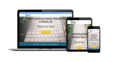 Blondes With Wands responsive website on different devices